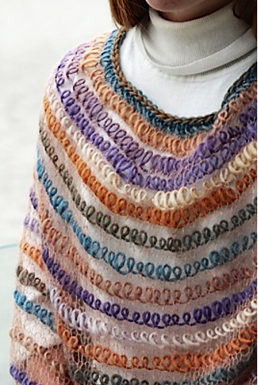 Free Knitting Pattern for Interpretations Poncho