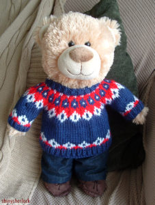 Free Knitting Pattern for Watson's Christmas Jumper