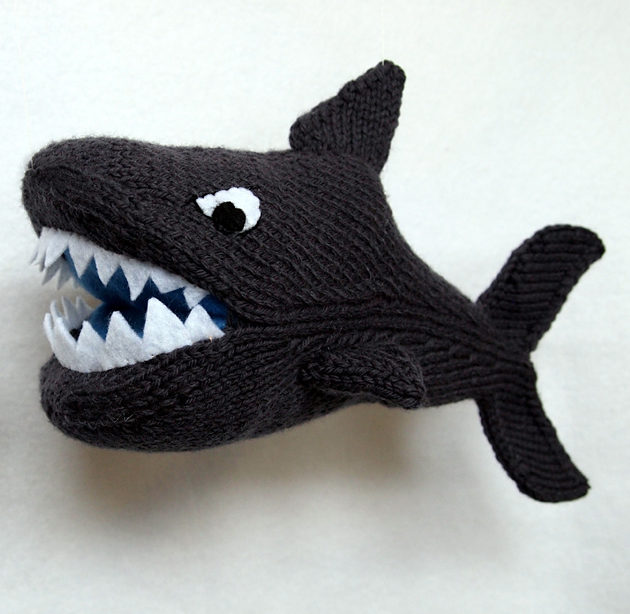 Knitting Pattern for Shark Toy