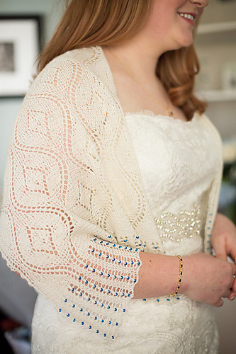 Bridal Seascape Stole Free Knitting Pattern | Free Wedding and Bridal Knitting Patterns at http://intheloopknitting.com/wedding-knitting-patterns/
