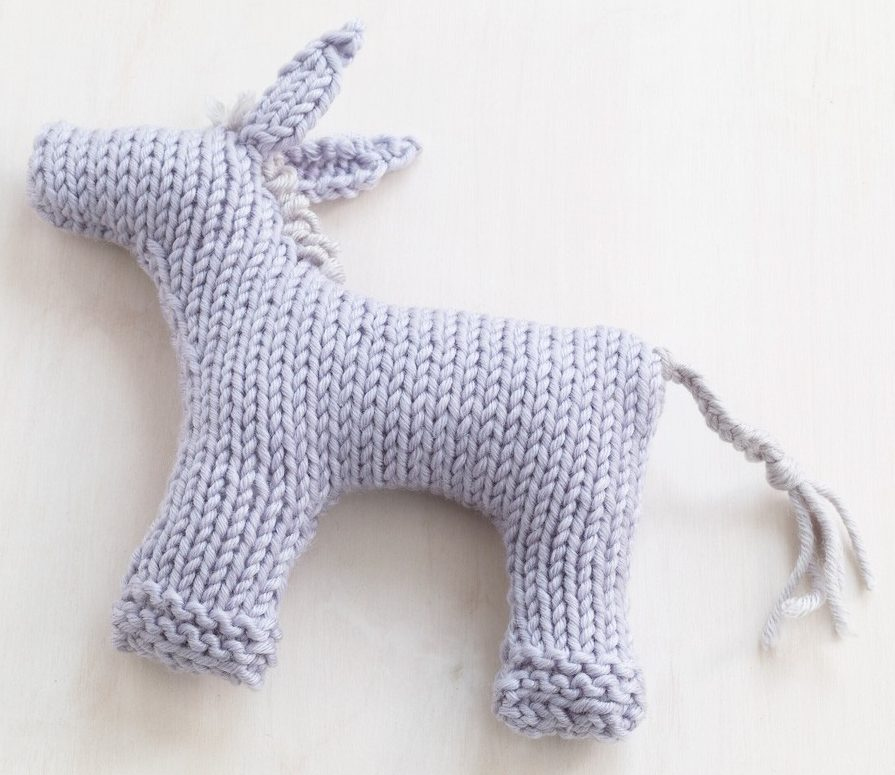 Free Knitting Pattern for Baby Burro