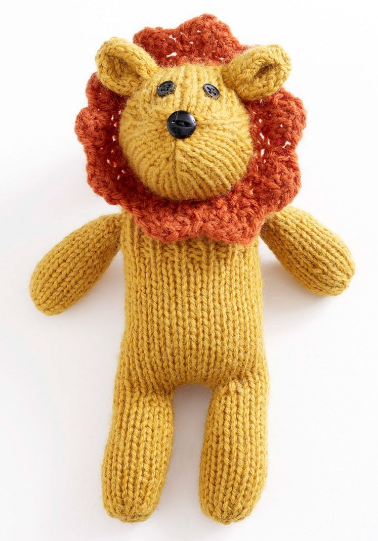 Free Knitting Pattern for Little Lion Sock Critter