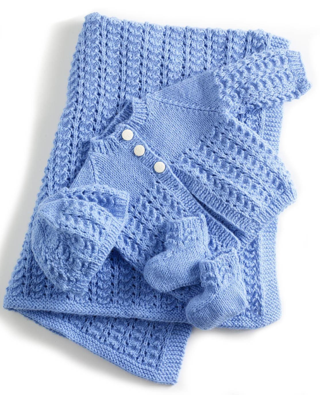 Baby Layette Set Knitting Patterns - In the Loop Knitting