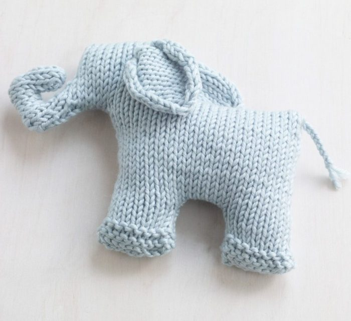 Free Knitting Pattern for Sweet Mini Elephant