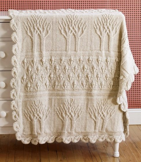 Free Knitting Pattern for Tree of Life Afghan