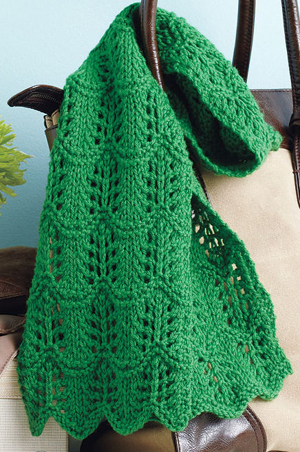 Free Knitting Pattern for One-Skein Lacy Scarf