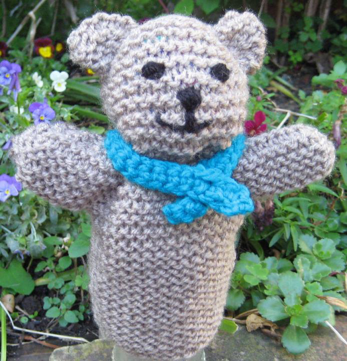 Free Knitting Pattern for Teddy Bear Hand Puppet