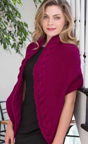 Free Knitting Pattern for Reversible Cable Wrap