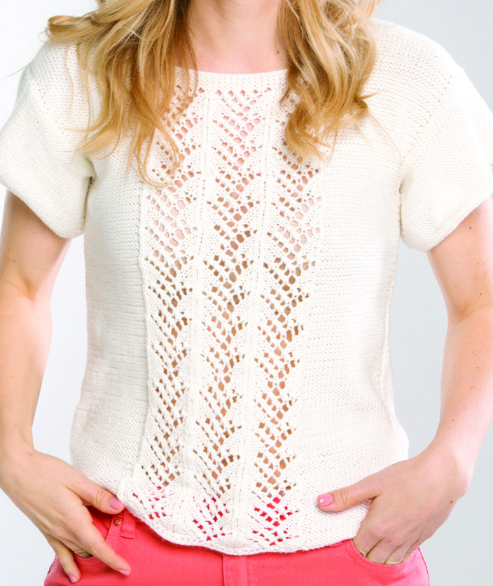 Free Knitting Pattern for Lacy Tee