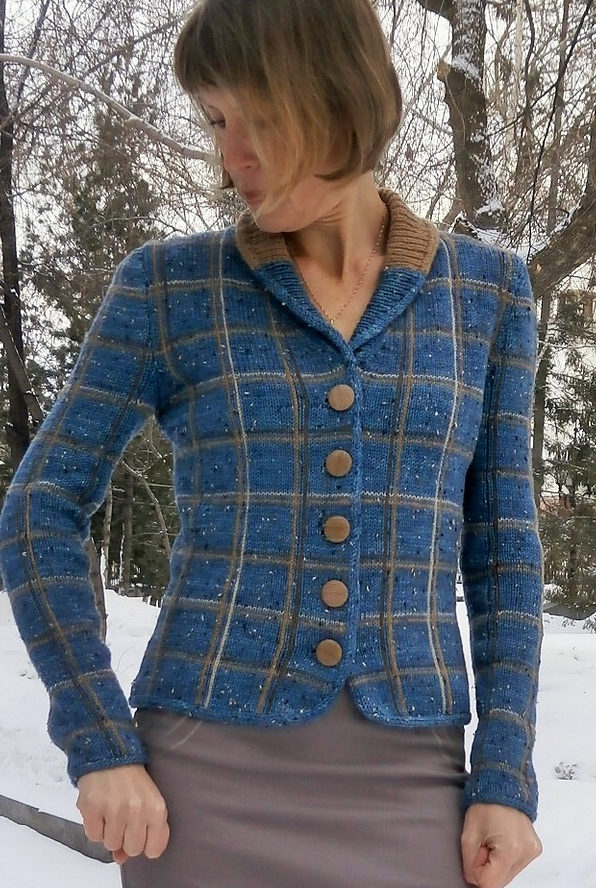 Free Knitting Pattern for Lady Boss Jacket