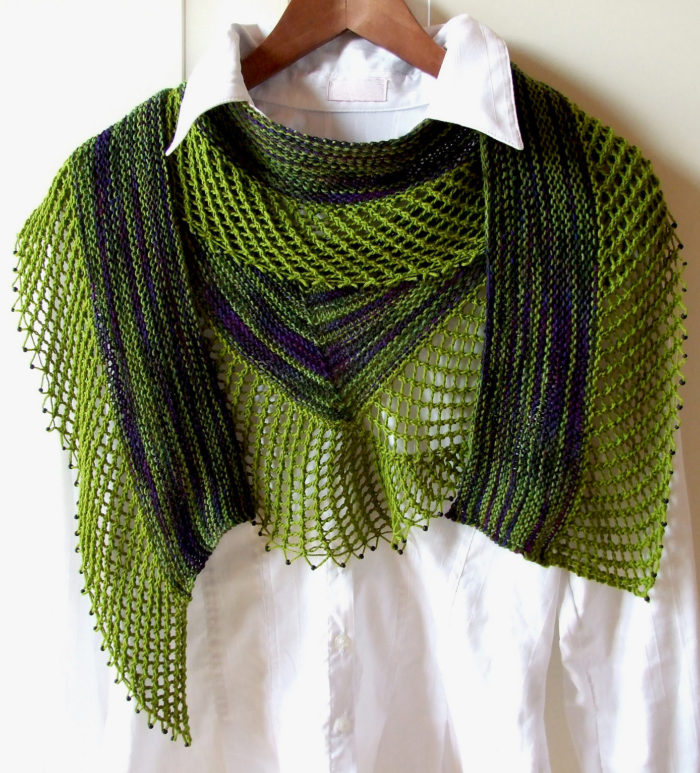 Free Knitting Pattern for Lagoa Scarf