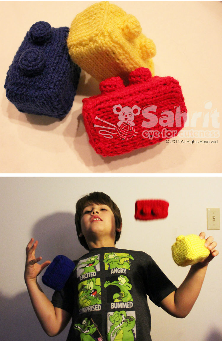 Free Knitting Pattern for Lego Juggling Balls