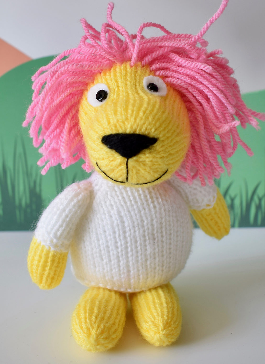 Free Knitting Pattern for Lionel the Lion
