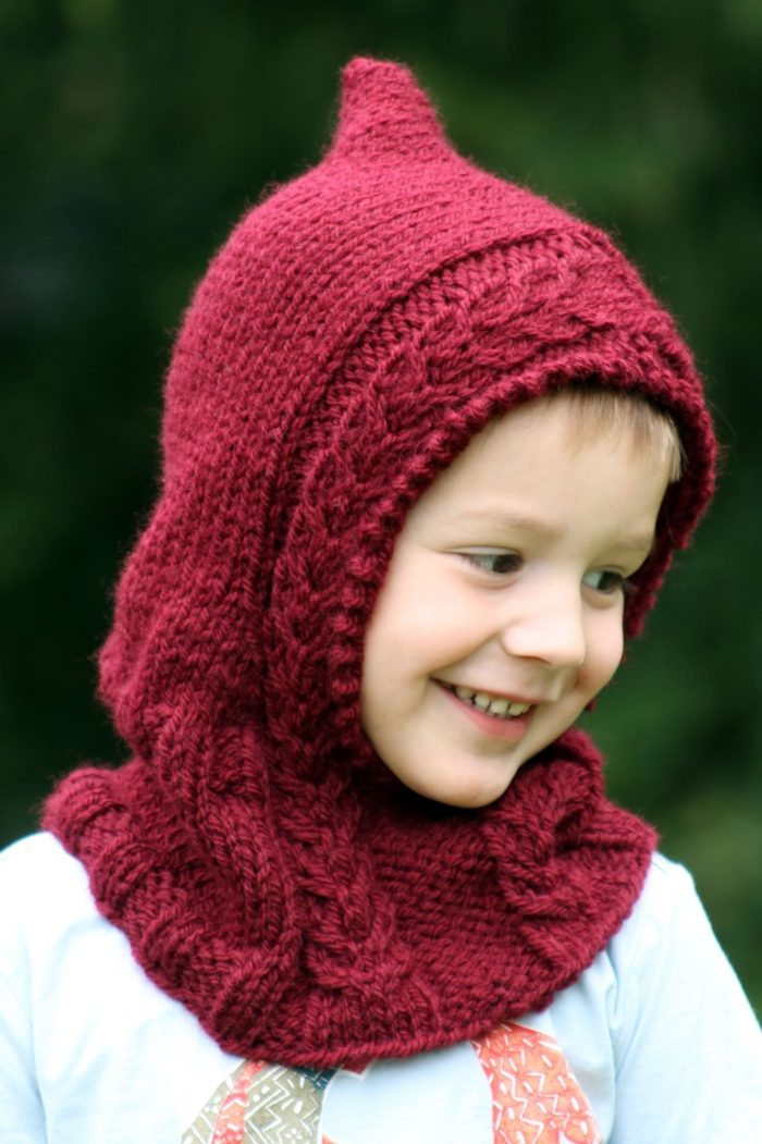 Free Knitting Pattern for Hooded Cowl