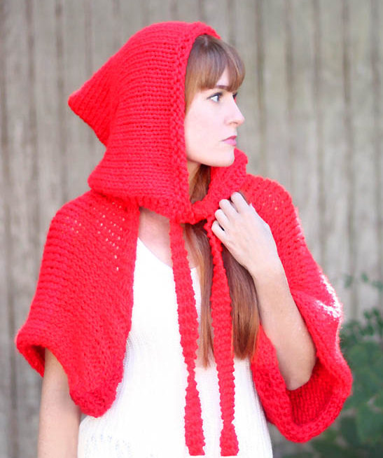 Free Knitting Pattern for Easy Red Riding Hood