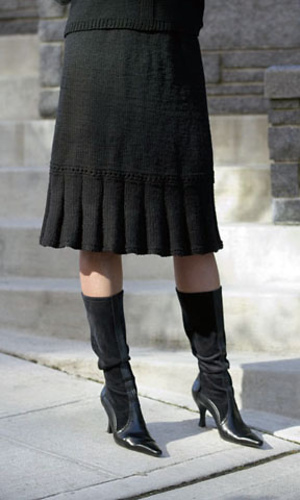 Free knitting pattern for Little Flirt Skirt