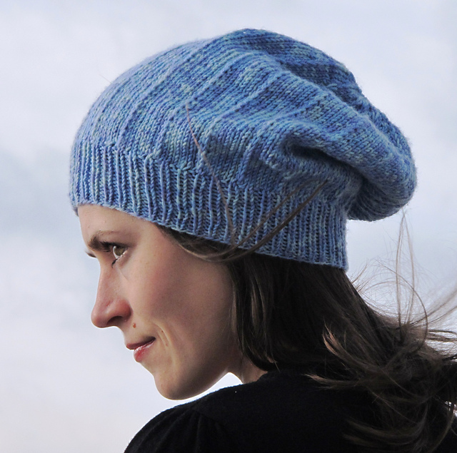 ce885aaef4e Michele Slouchy Hat Free Knitting Pattern and more free slouchy hat knitting  patterns