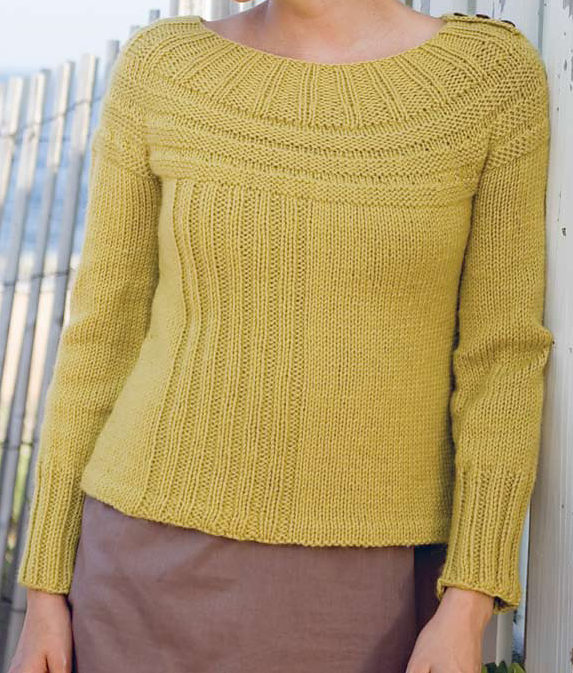 Knitting Pattern for Middlefield Pullover