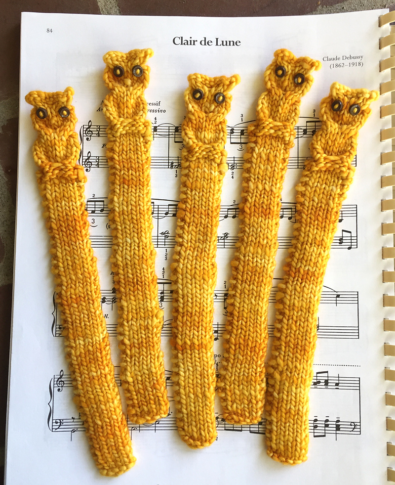 Free Knitting Pattern for Owl Bookmark