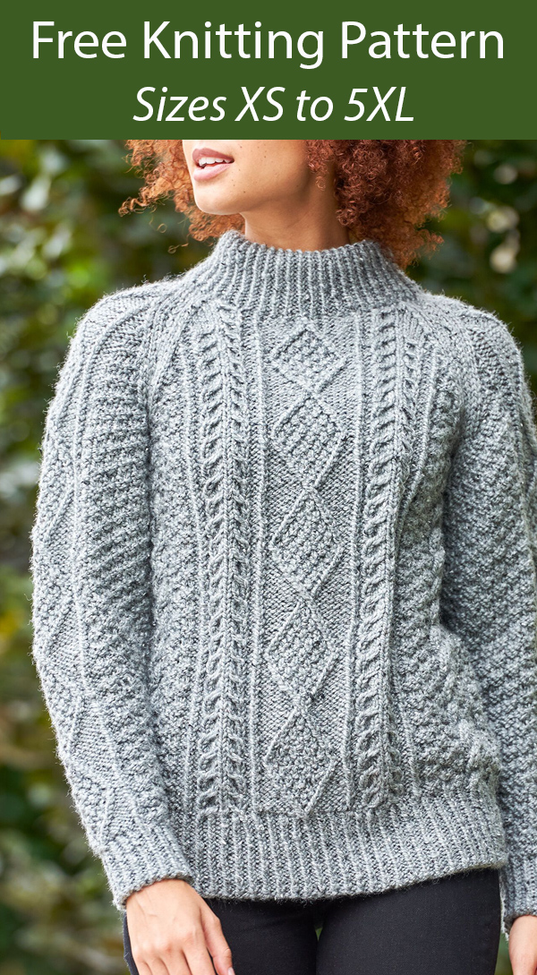 Free Knitting Pattern for Boyfriend's Cable Sweater
