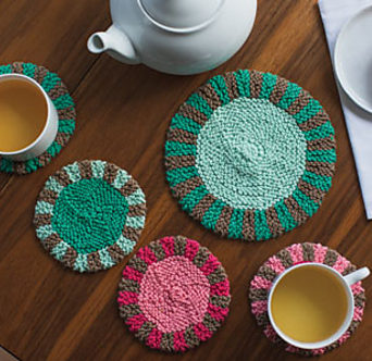 Knitting Pattern for Promenade Coasters and Trivet