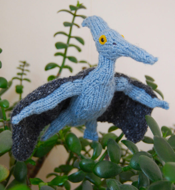 Free Knitting Pattern for Pterodactyl