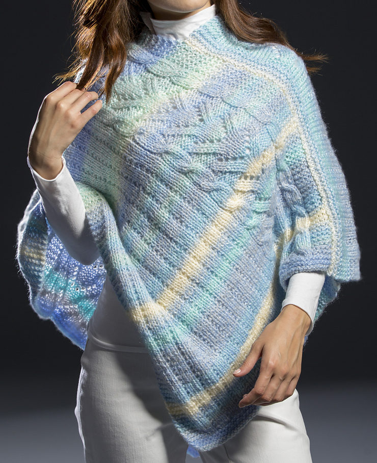 Free Knitting Pattern for Surfside Poncho