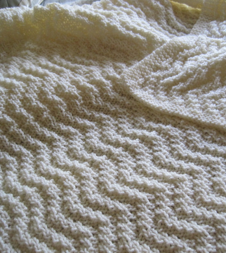 Free Knitting Pattern for Reversible Quick Knit Blanket