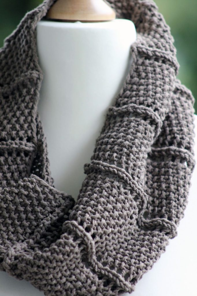 Free Knitting Pattern 2 Row Repeat Cowl