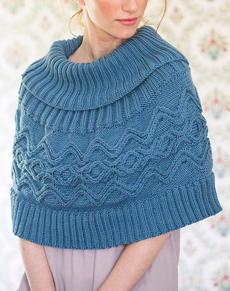 Free Knitting Pattern for River Poncho
