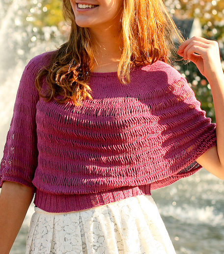 Free Knitting Pattern for Rosarian Top