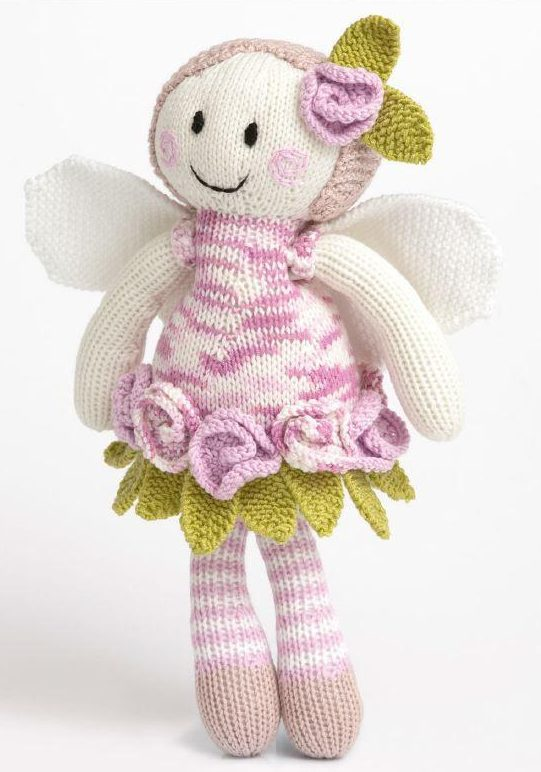 Free Knitting Pattern for Rose Fairy Doll