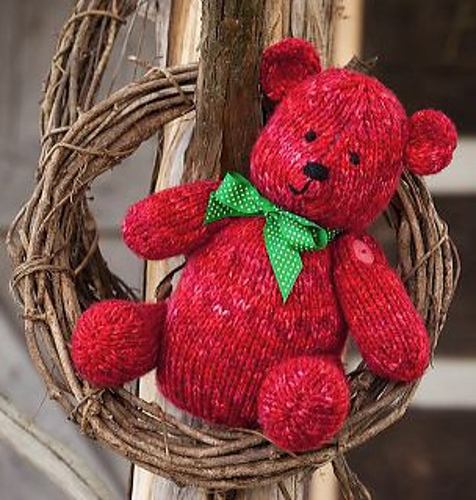 Free knitting pattern for Ruby Bear by Michele Wilcox