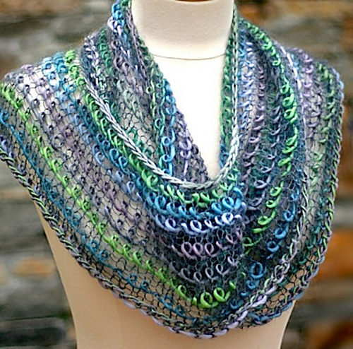 Free Knitting Pattern for Interpretations Infinity Scarf Cowl