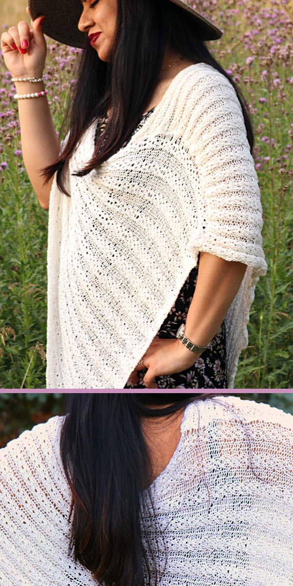 Free for Limited Time Knitting Pattern for Easy Serene Simplicity Poncho