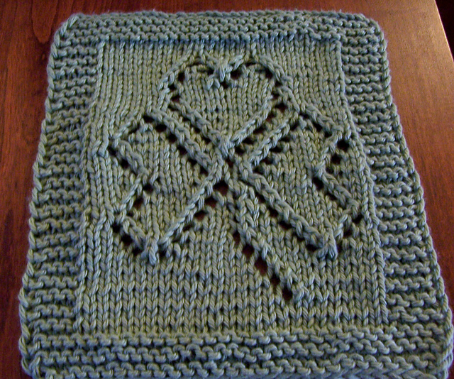 St. Patrick's Day Washcloth Free Knitting Pattern | Free St. Patrick's Day Knitting Patterns at