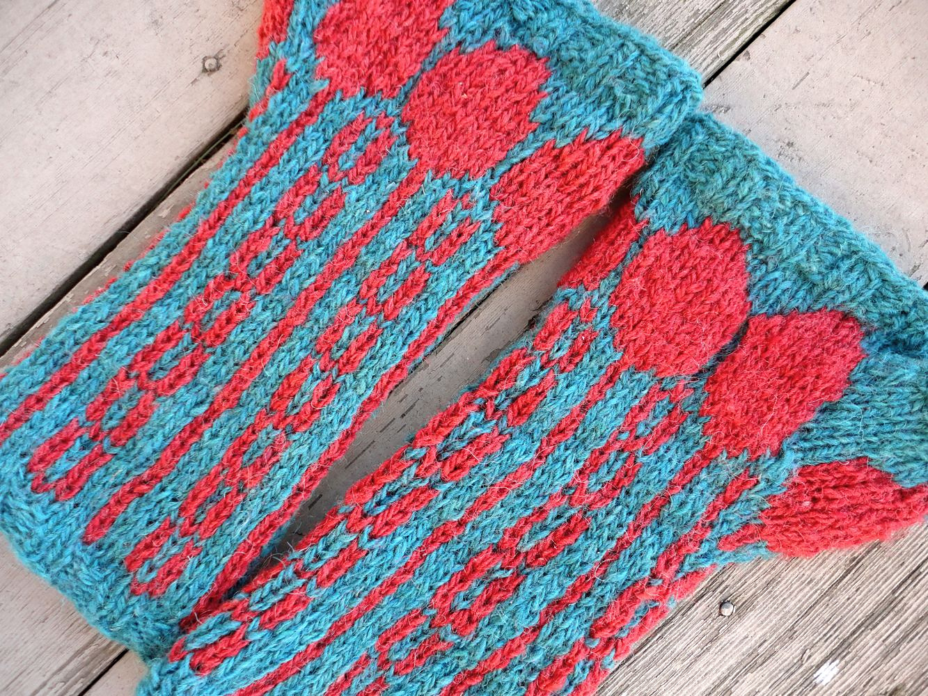 Free Knitting Pattern for Spoons Up Mitts