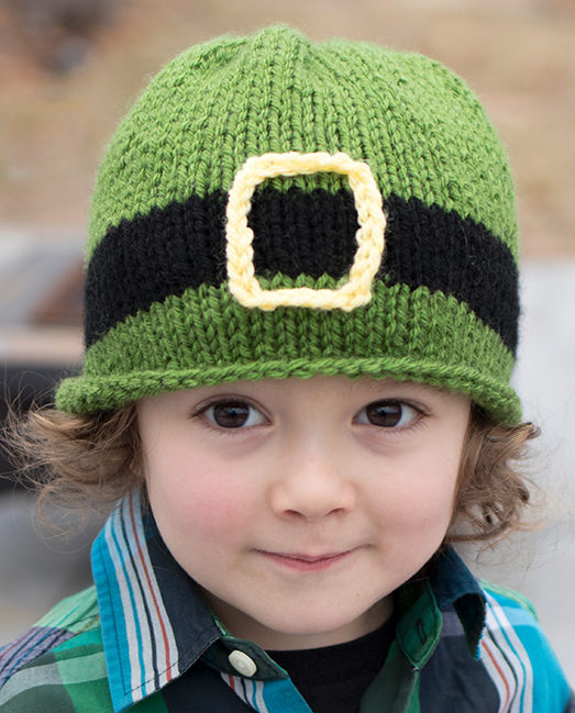 Free Knitting Pattern for Leprechaun Kids Hat