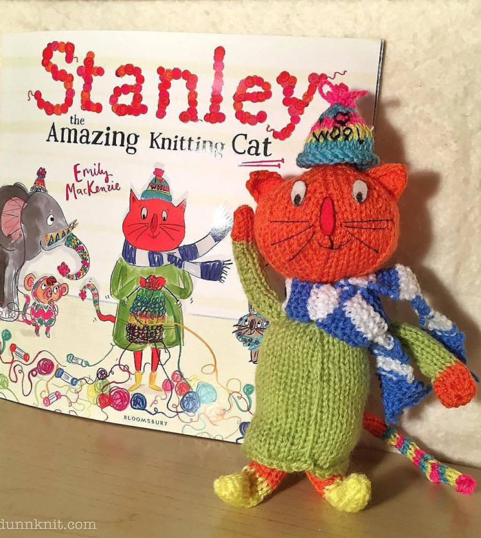 Free Knitting Pattern for Stanley the Amazing Knitting Cat