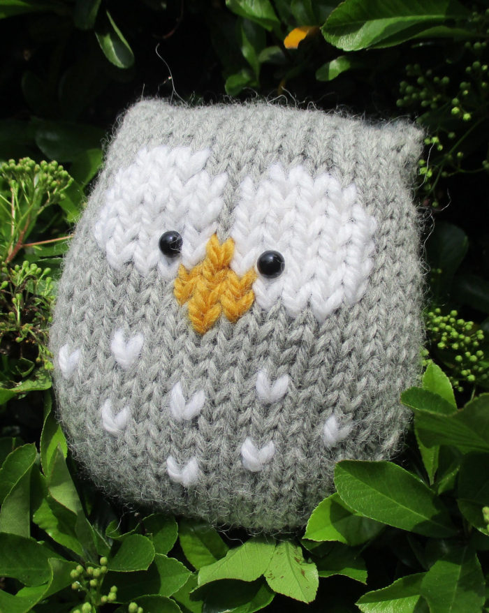 Free Knitting Pattern for Stuffy Owl by Amanda Berry