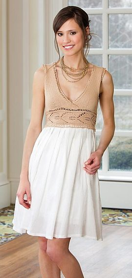 Free knitting pattern for Summer Getaway Sun Dress