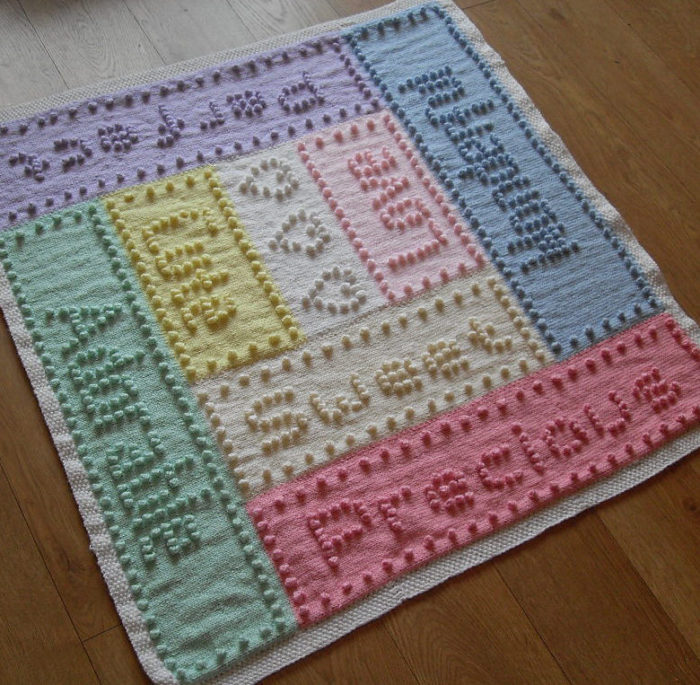 Knitting Pattern for Sweet Dreams Bobble Baby Blanket
