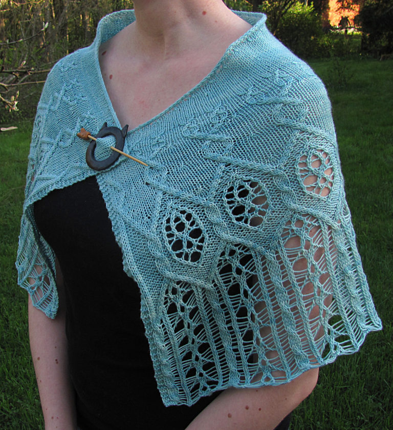 Free Knitting Pattern for The Pale Lady Shawl