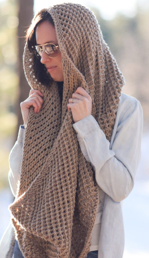 Free Knitting Pattern for Traveler Infinicowl