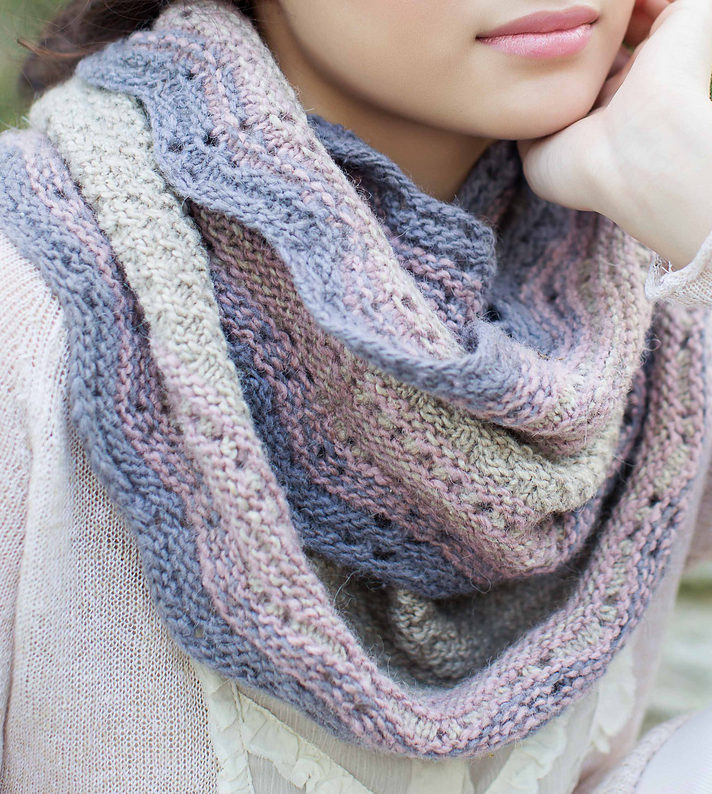 Knitting Pattern for Vintage Lace Infinity Loop