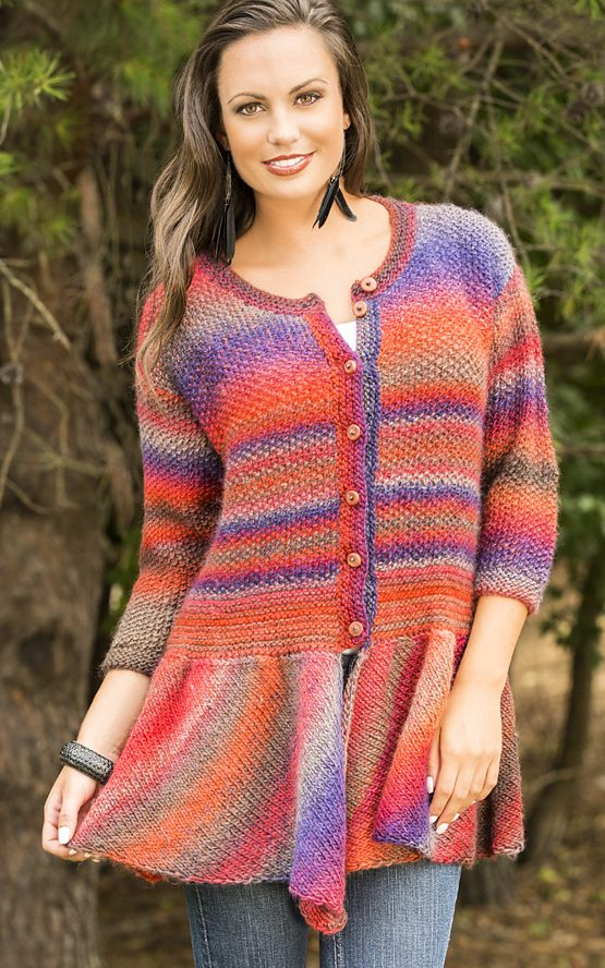 Free Knitting Pattern for Walking Bird Cardigan