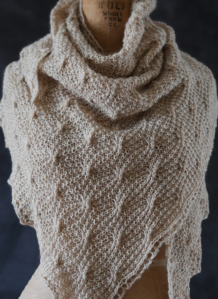 Knitting Pattern for Volta Wavy Cable Shawl