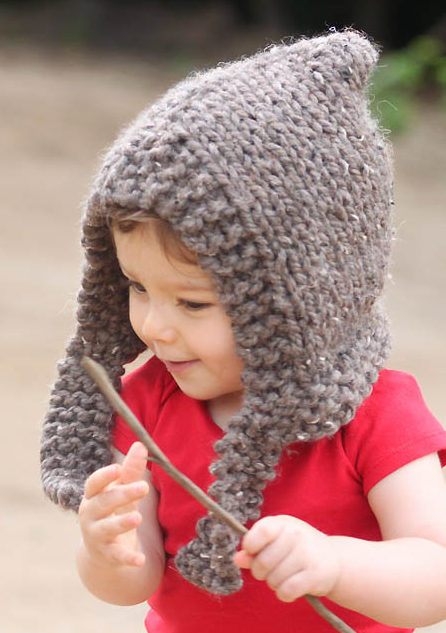Free Knitting Pattern for Woodland Hood