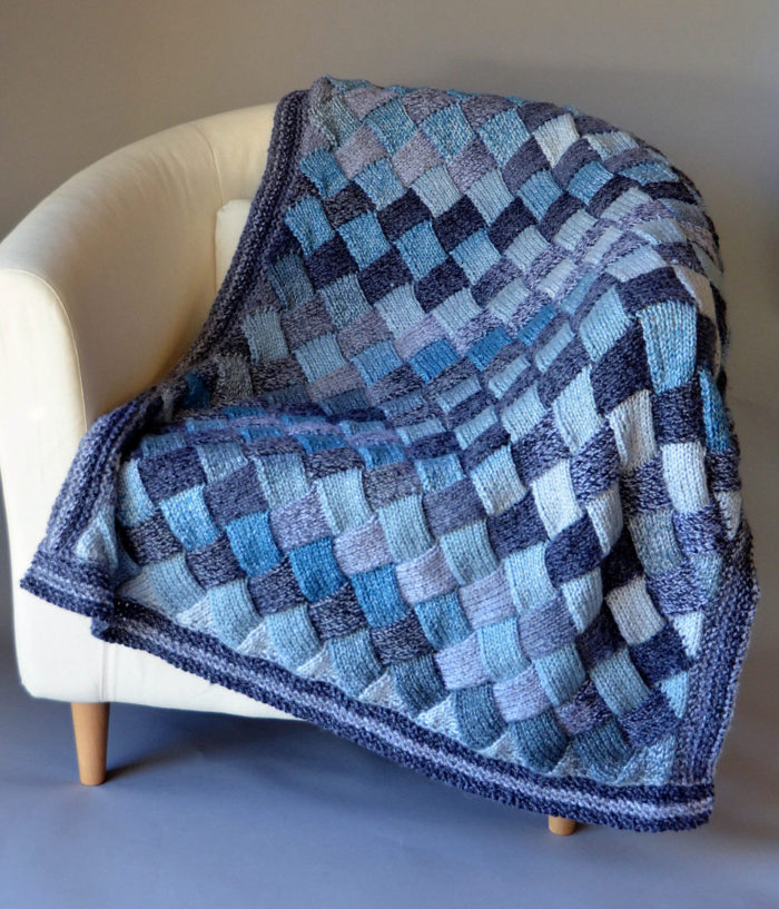 Free Knitting Pattern for Woven Sky Throw