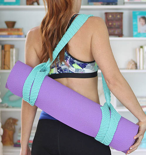Free Knitting Pattern for Yoga Mat Strap